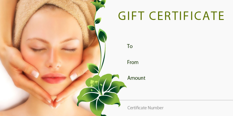 Spa Gift Certificate | TicketPrinting.com