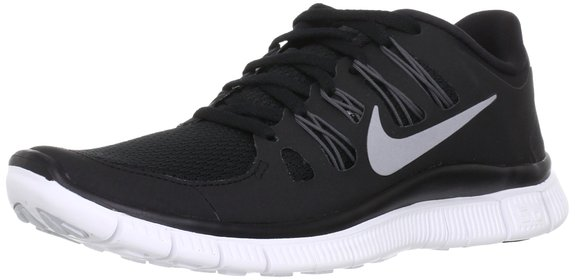 Nike Free 5.0 Ladies Running Shoes - Black