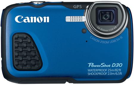 7. Canon PowerShot D30