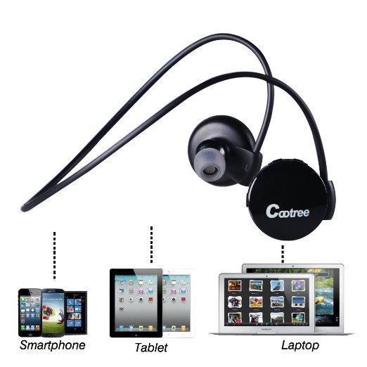 Cootree Wireless Bluetooth 4.0 in-ear Headset Headphone
